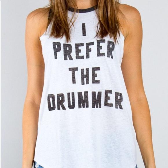 """94ede3e6de40a H M Tops - H M """"I Prefer the Drummer"""" tank top"""